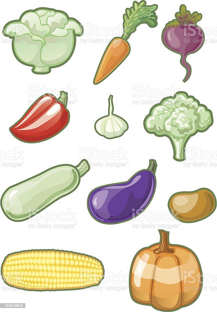 Set of vegetables royalty-free stock vector art