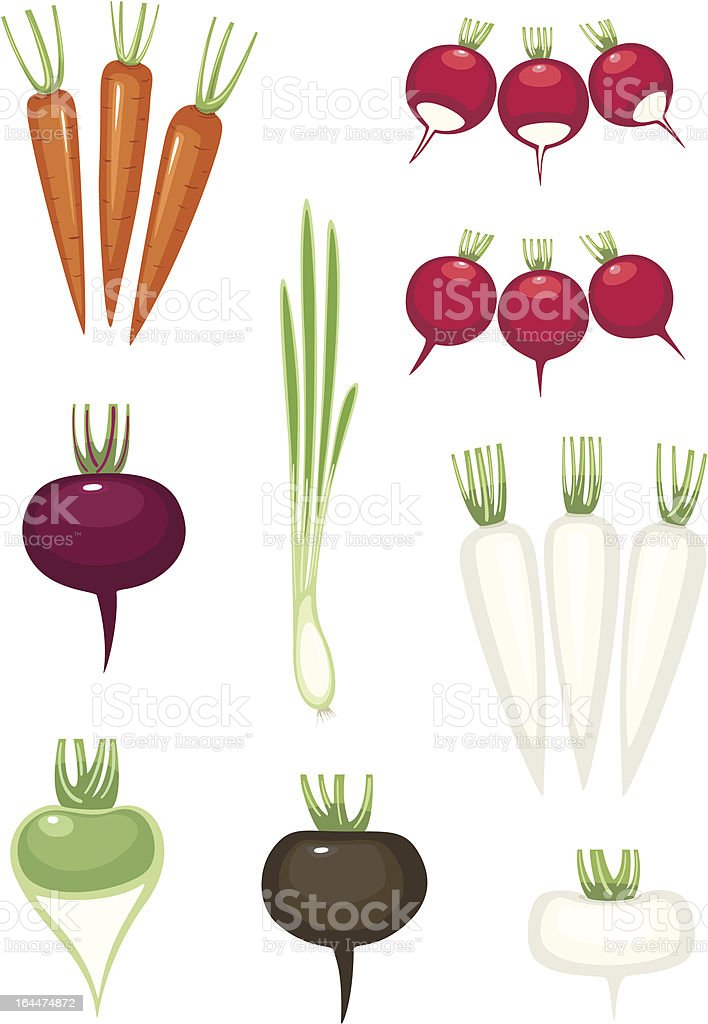 set of vegetables vector art illustration