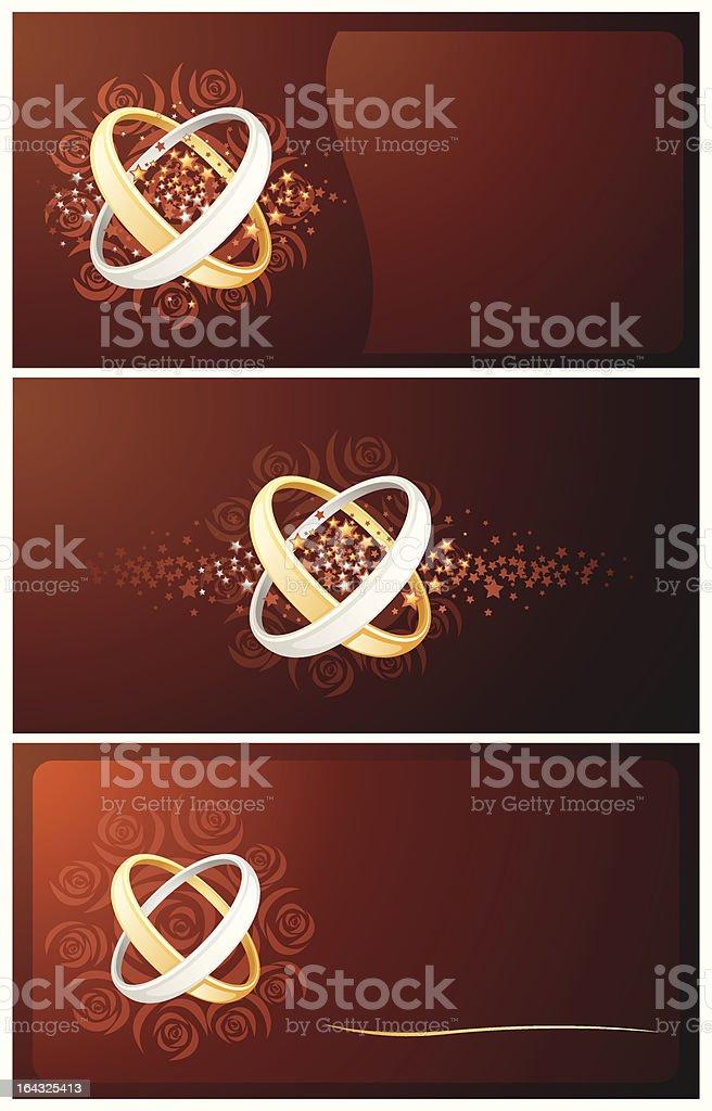 set of wedding cards royalty-free stock vector art