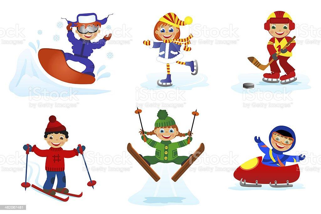 Set Of Winter Sport stock vector art 462067481 | iStock