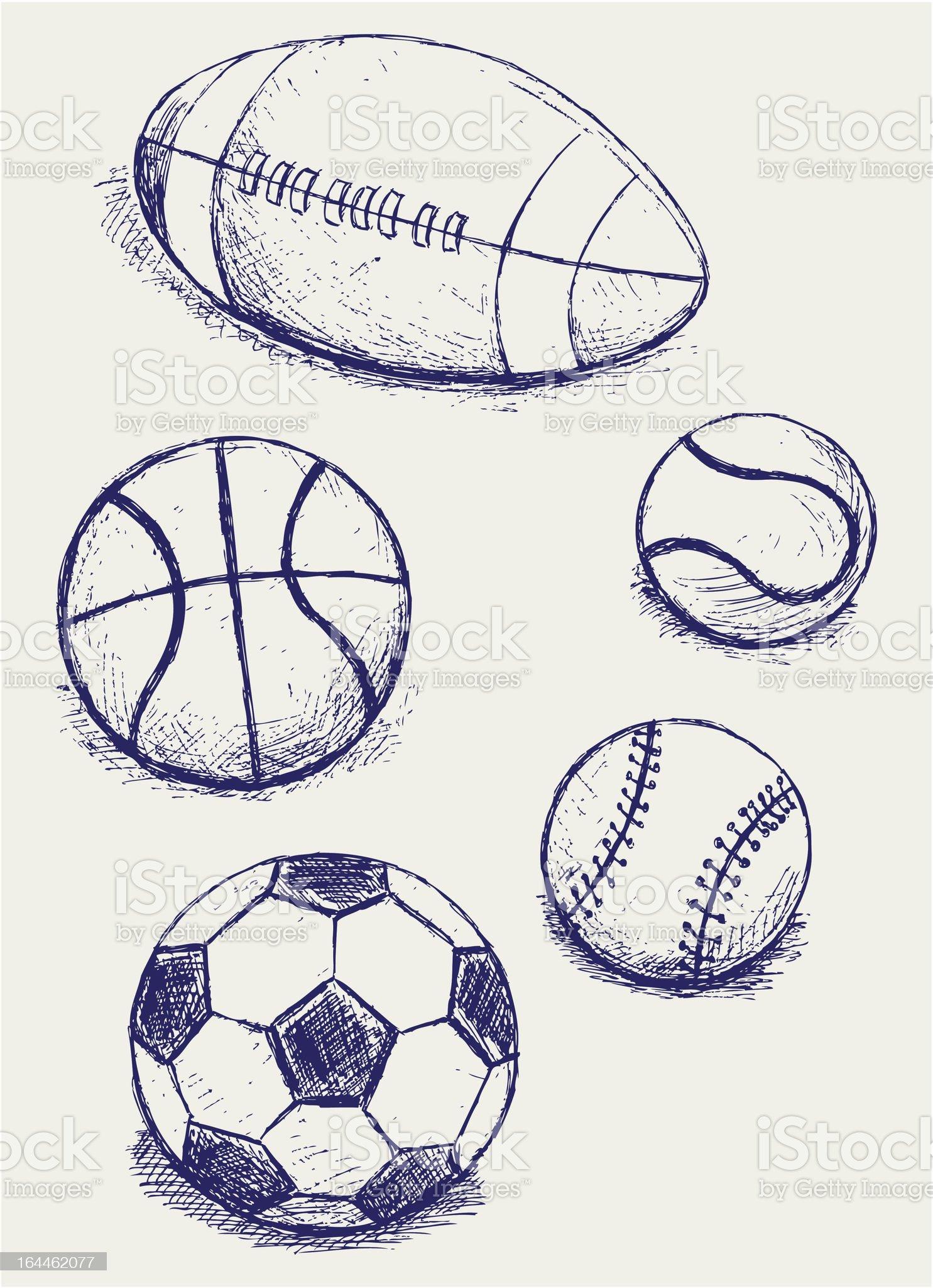 Set sport balls royalty-free stock vector art