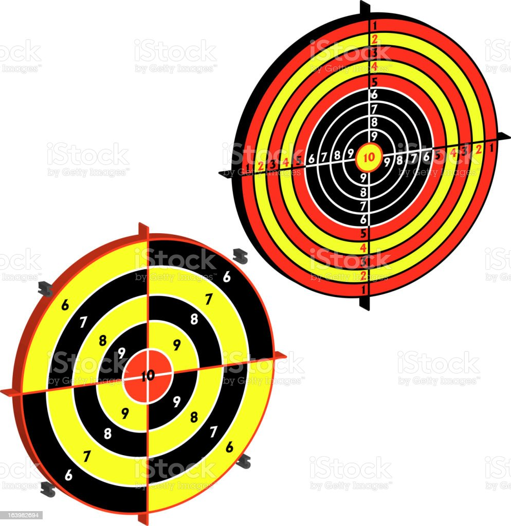 Set targets for practical pistol shooting, exercise. royalty-free stock vector art