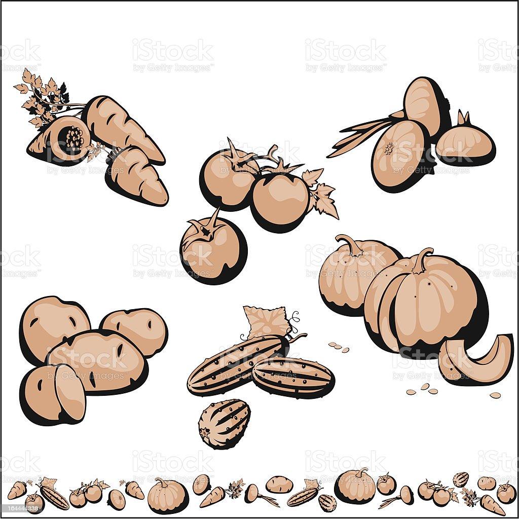 set vegetables. royalty-free stock vector art