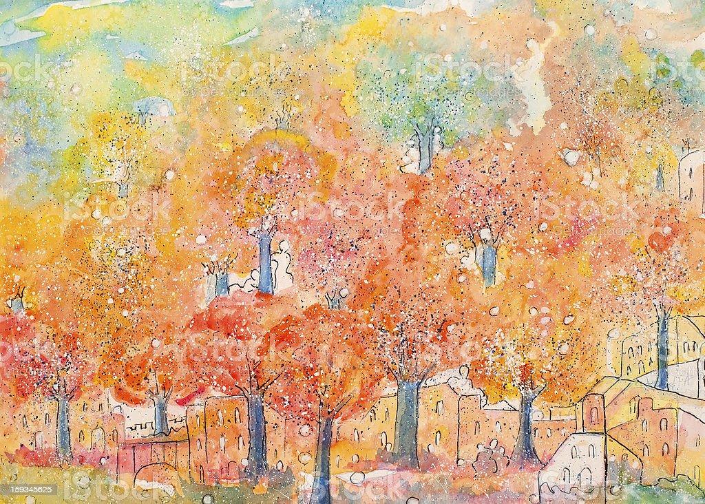 Liquidación de los árboles de Orange illustracion libre de derechos libre de derechos