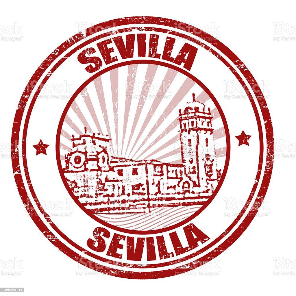 Sevilla stamp royalty-free stock vector art
