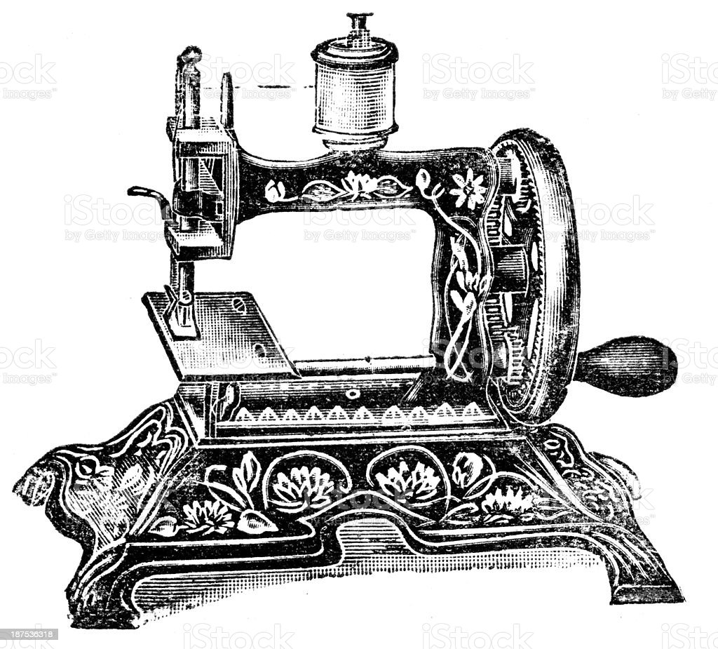 Sewing Machine royalty-free stock vector art