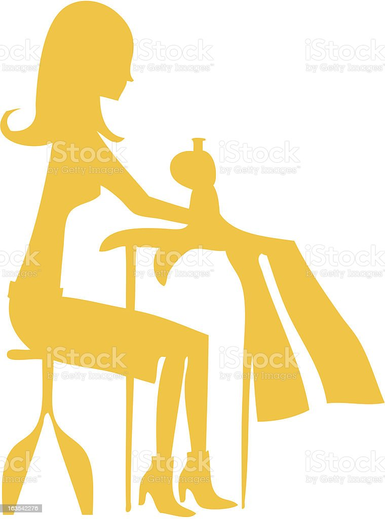 Sewing Seamstress royalty-free stock vector art