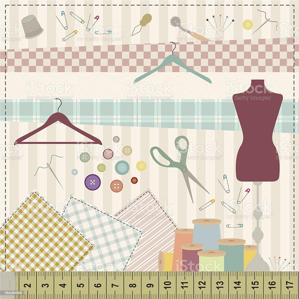 Sewing set royalty-free stock vector art