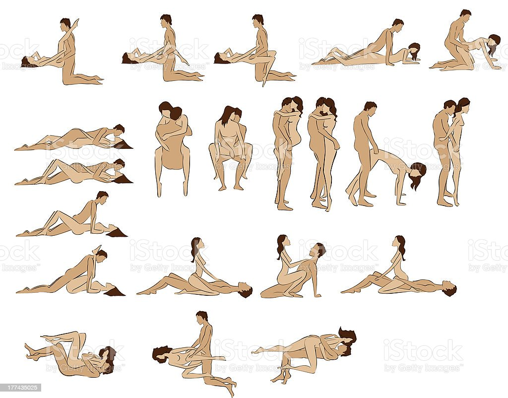 Sex positions vector art illustration