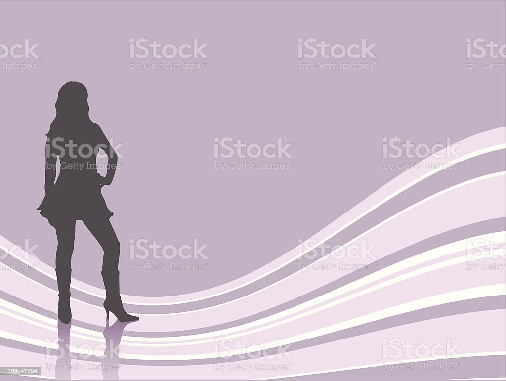 Sexy female royalty-free stock vector art