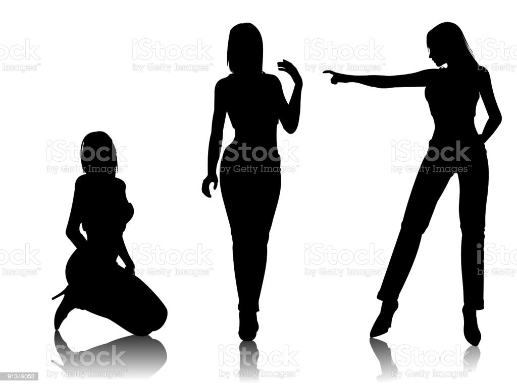 sexy girls I royalty-free stock vector art