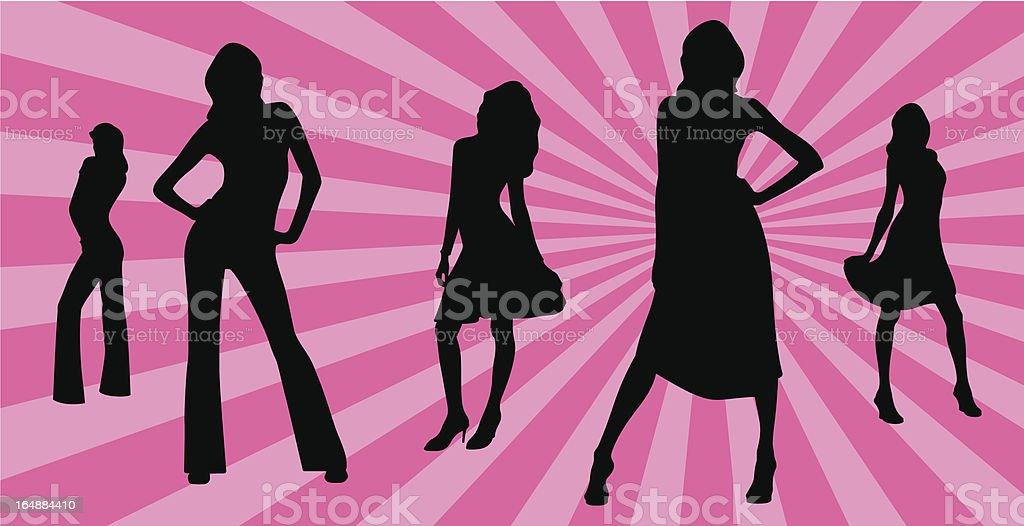 sexy girls royalty-free stock vector art