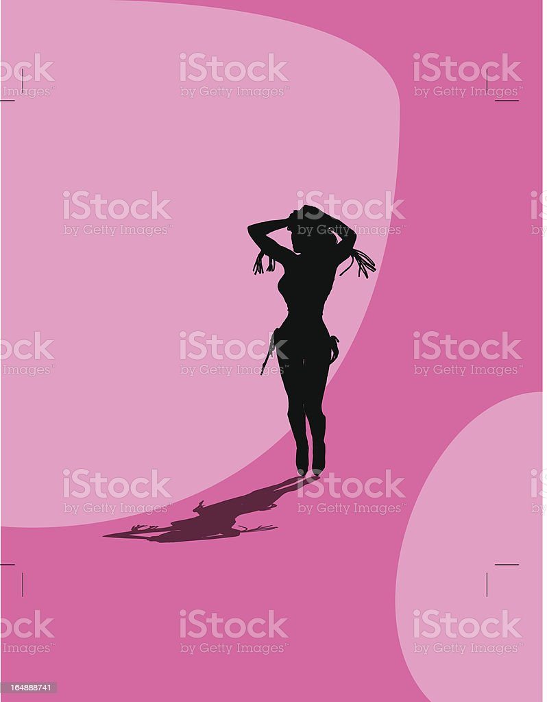 Sexy Silhouette vector art illustration