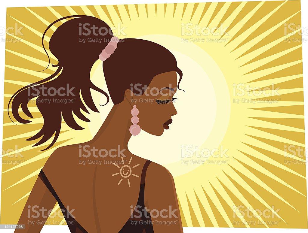 Sexy Tan Girl royalty-free stock vector art