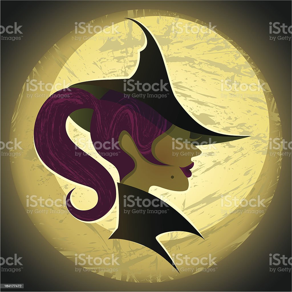 Sexy Witch royalty-free stock vector art