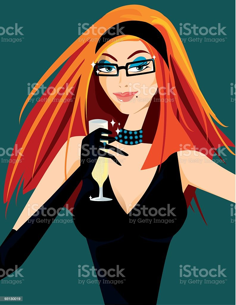 Sexy with glasses royalty-free stock vector art