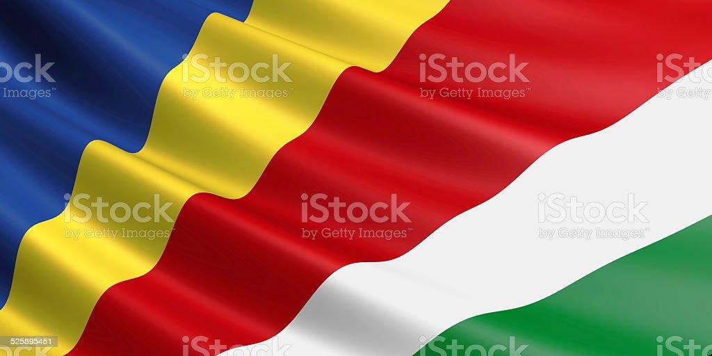 Seychelles flag. royalty-free stock vector art