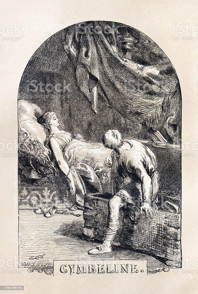Shakespeare - Cymbeline royalty-free stock vector art