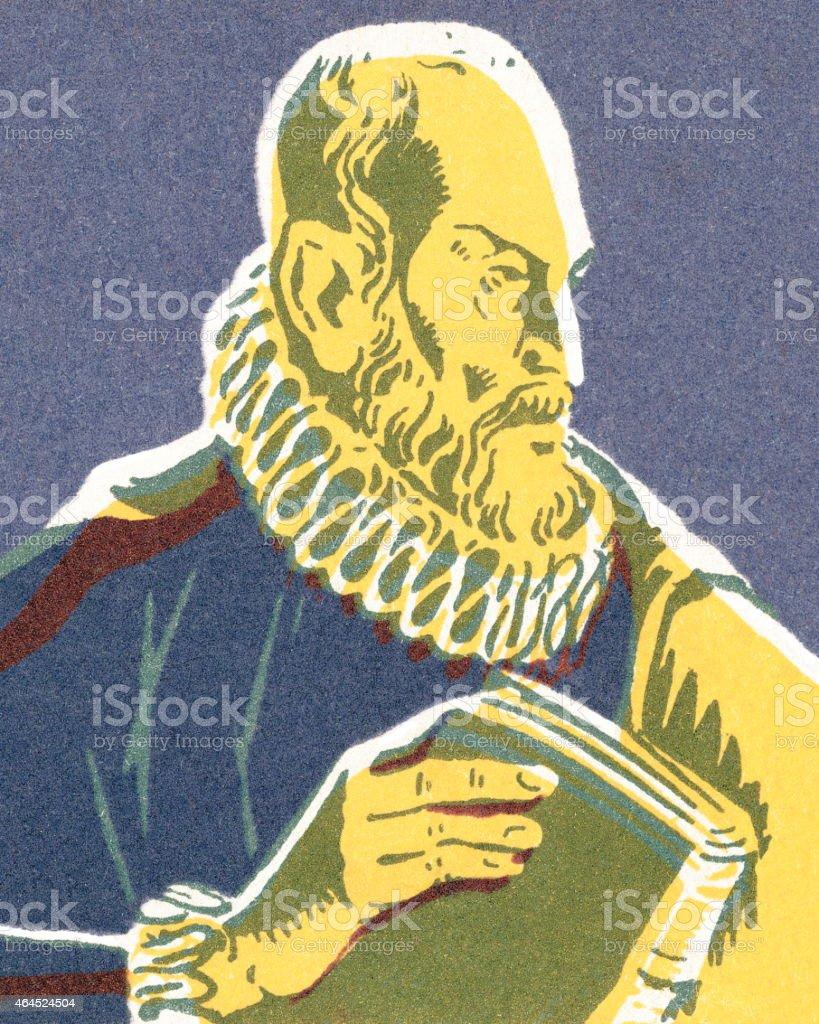 Shakespeare vector art illustration