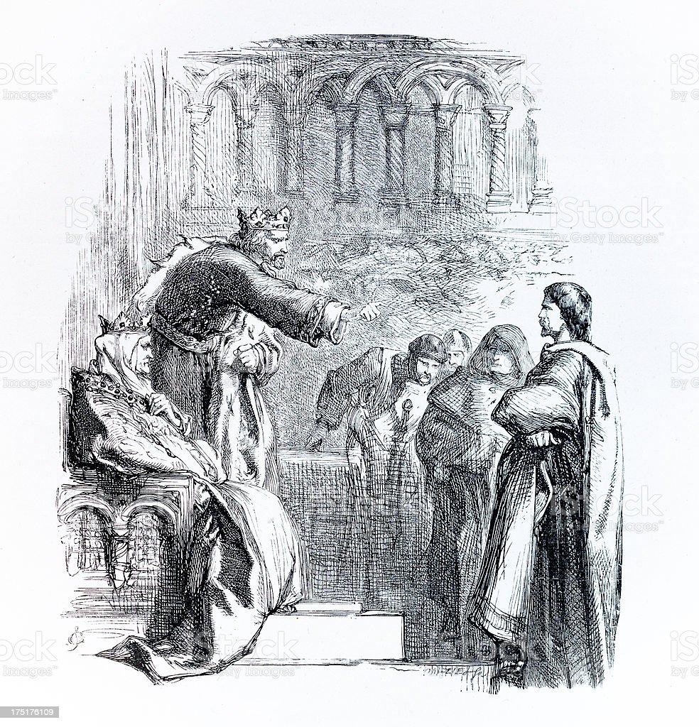 Shakespeare - Kink John royalty-free stock vector art