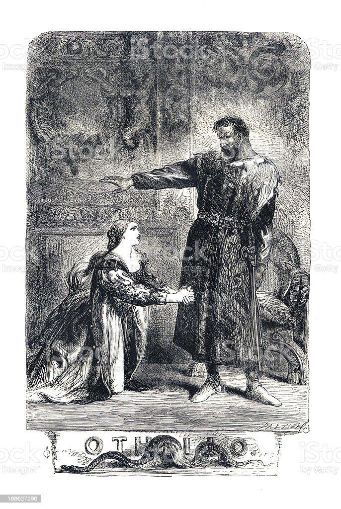 Shakespeare - Othello vector art illustration