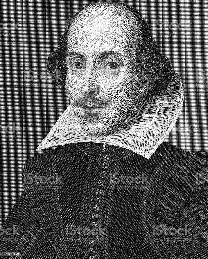 Shakespeare Portrait - Fine Engraving royalty-free stock vector art