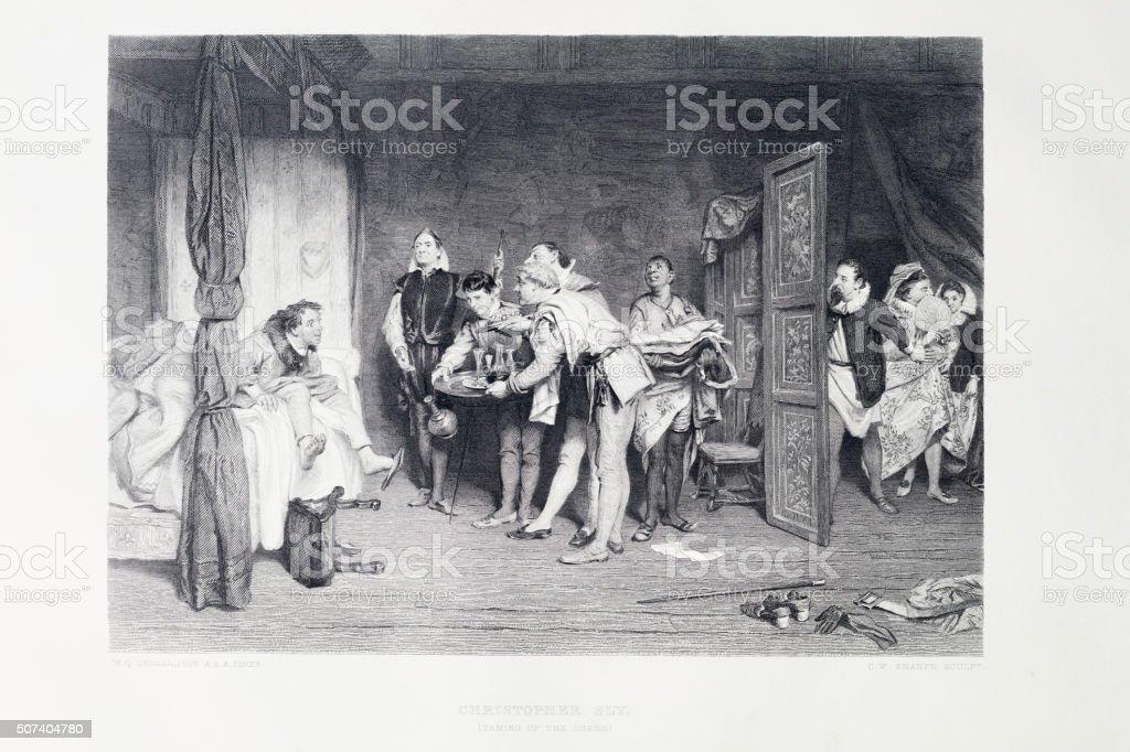 Shakespeare - The Taming Of The Shrew vector art illustration