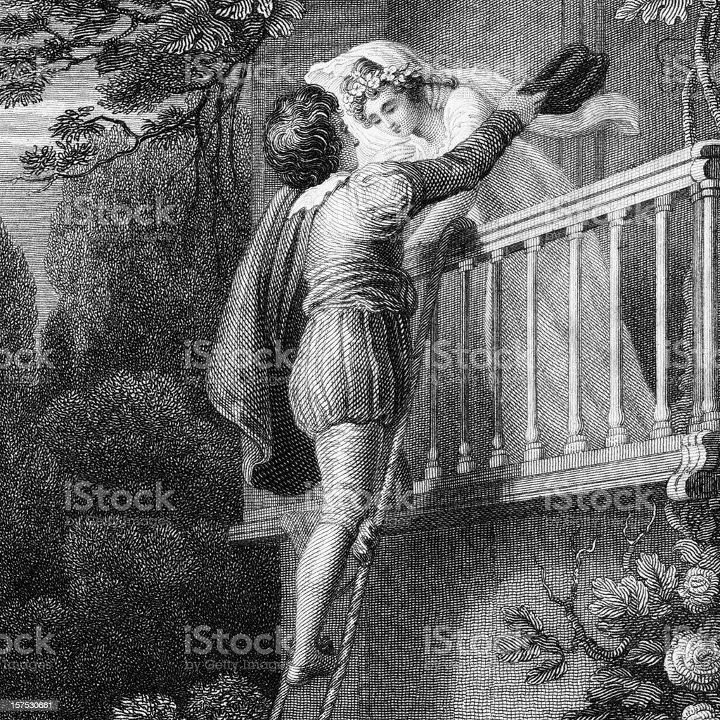 Shakespeare's Plays: Romeo and Juliet vector art illustration