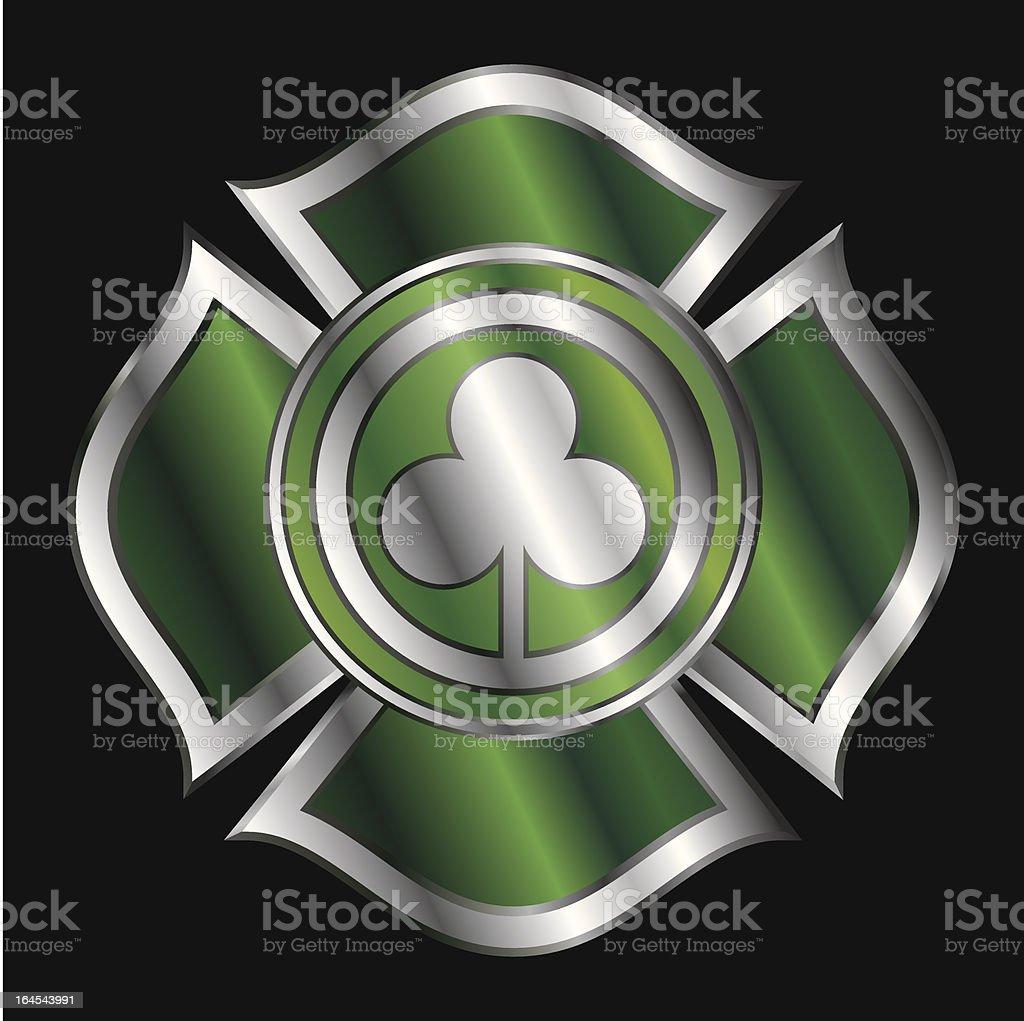 Shamrock Firemen Badge royalty-free stock vector art