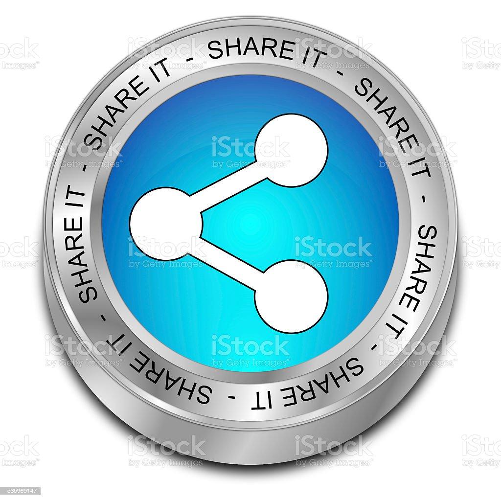 Share it Button vector art illustration