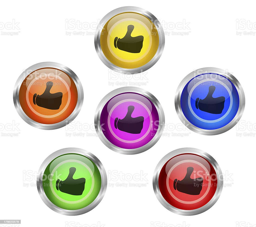 Share Like Web Buttons royalty-free stock vector art
