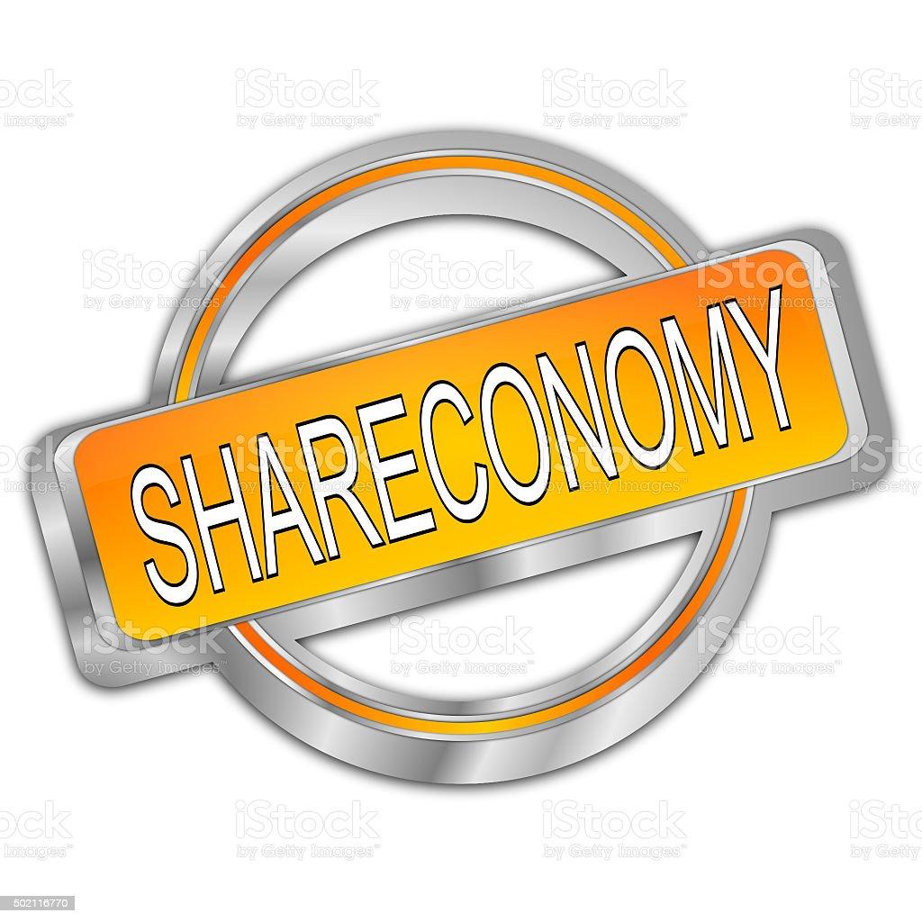 Shareconomy Button vector art illustration