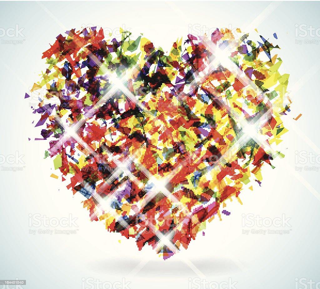 Shattered Spectrum Heart royalty-free stock vector art