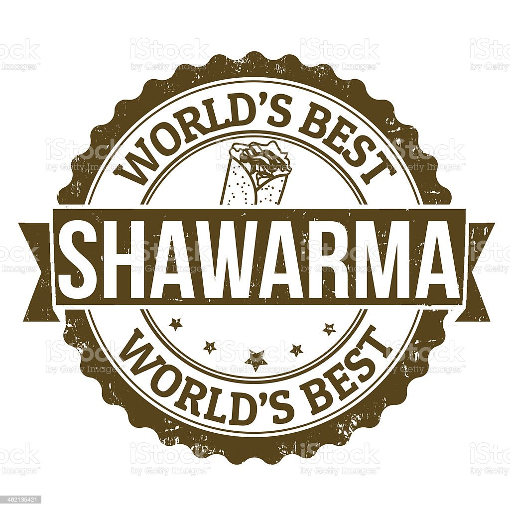 Shawarma stamp vector art illustration