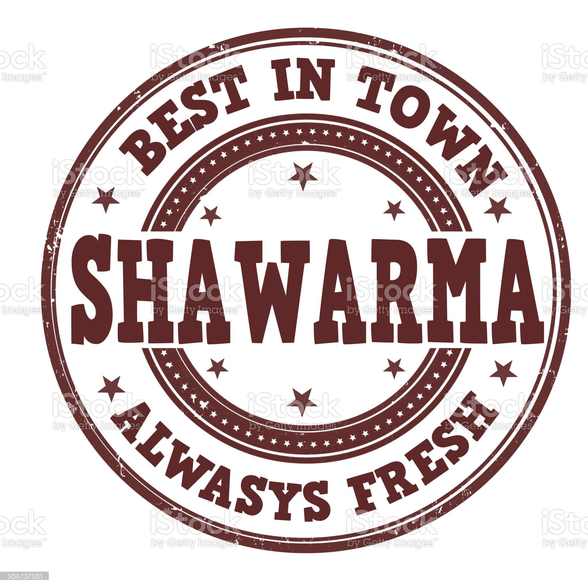 Shawarma stamp royalty-free stock vector art