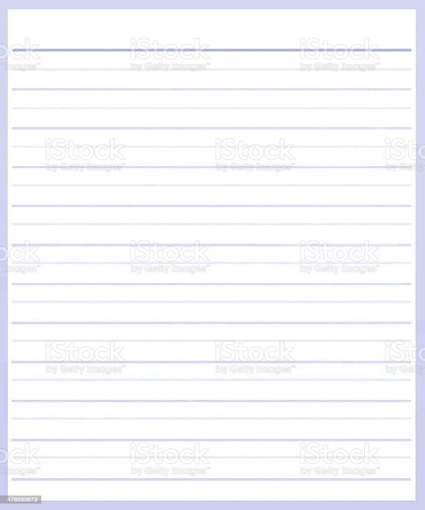 Sheet Of Purple Color Lined Paper Stock Vector Art 476390673   IStock  Color Lined Paper