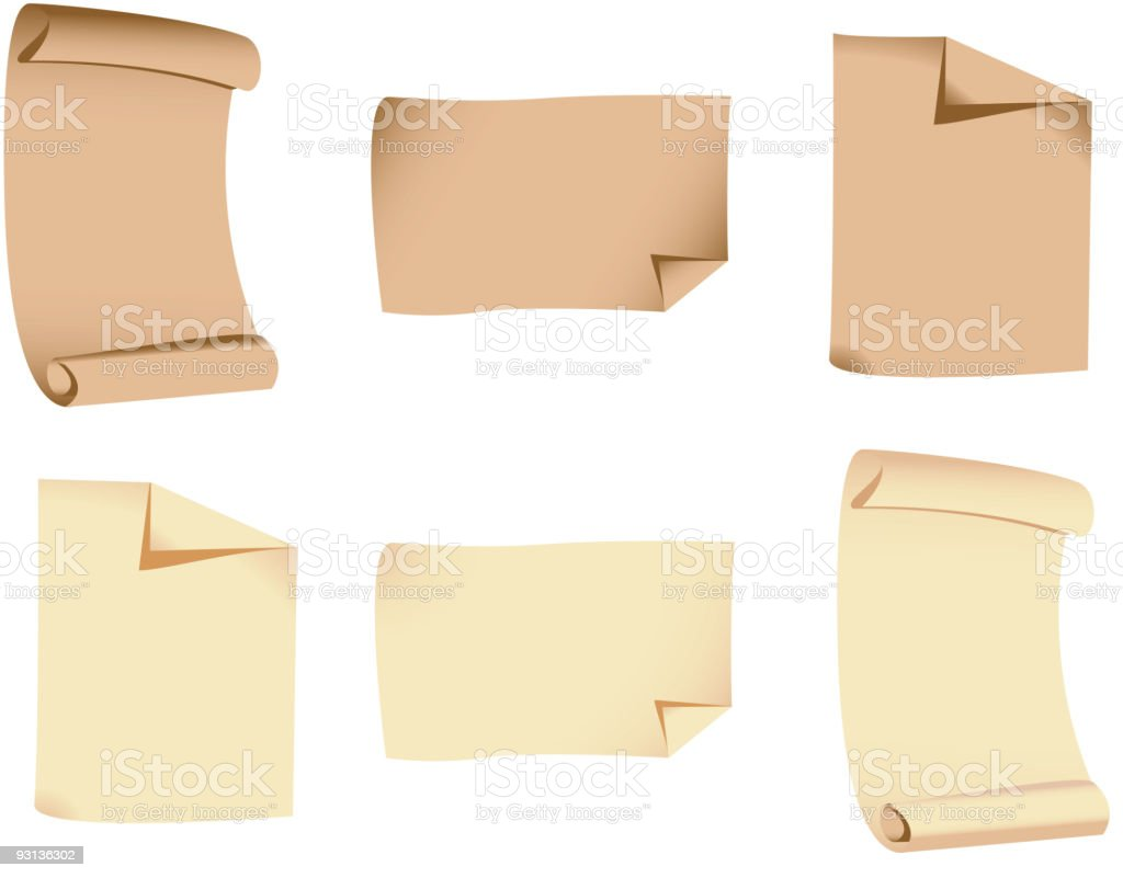 Sheets of paper royalty-free stock vector art