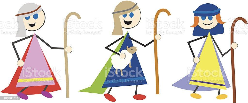 shepherd kids royalty-free stock vector art