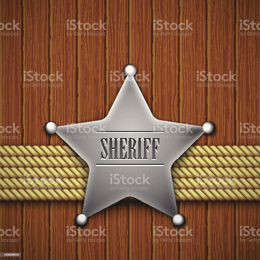 sheriff royalty-free stock vector art