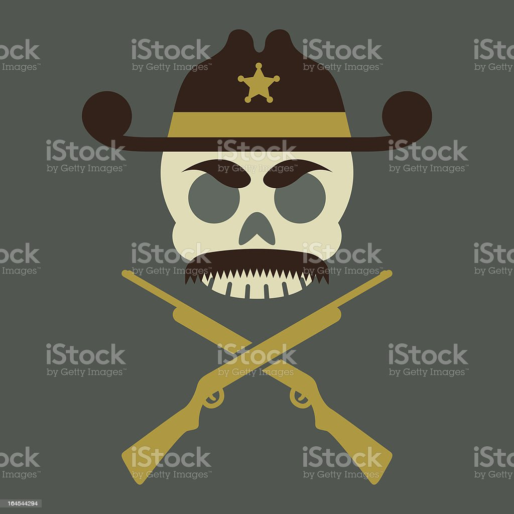 Sheriff Jolly Roger royalty-free stock vector art