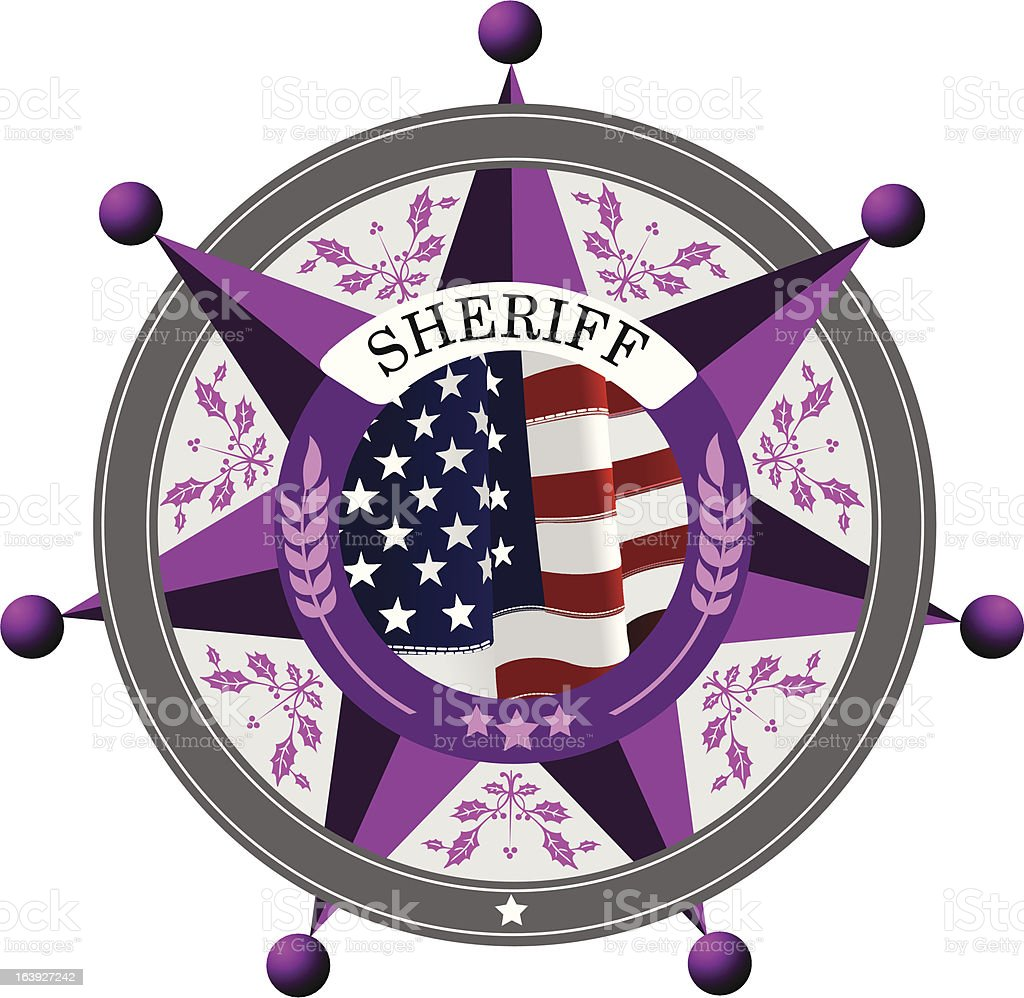 Sheriff's badge on a white background royalty-free stock vector art