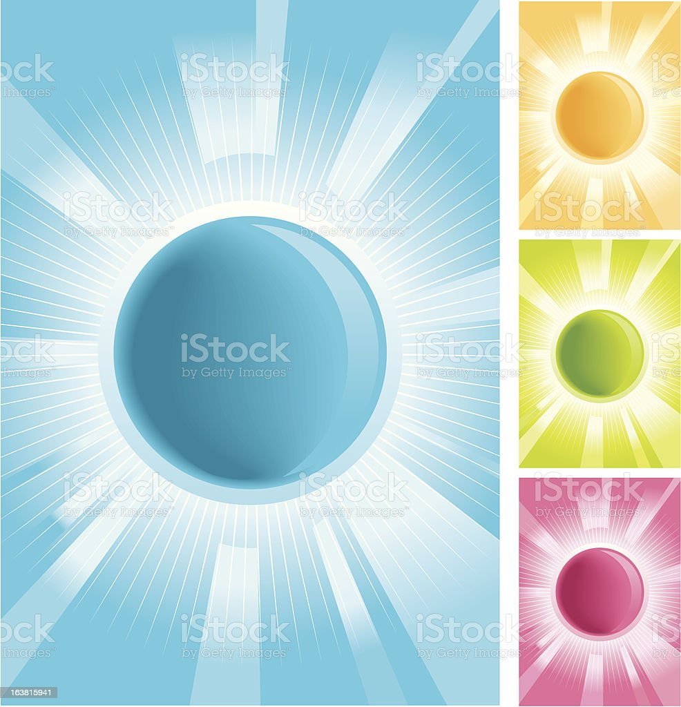 Shine icon/text background royalty-free stock vector art