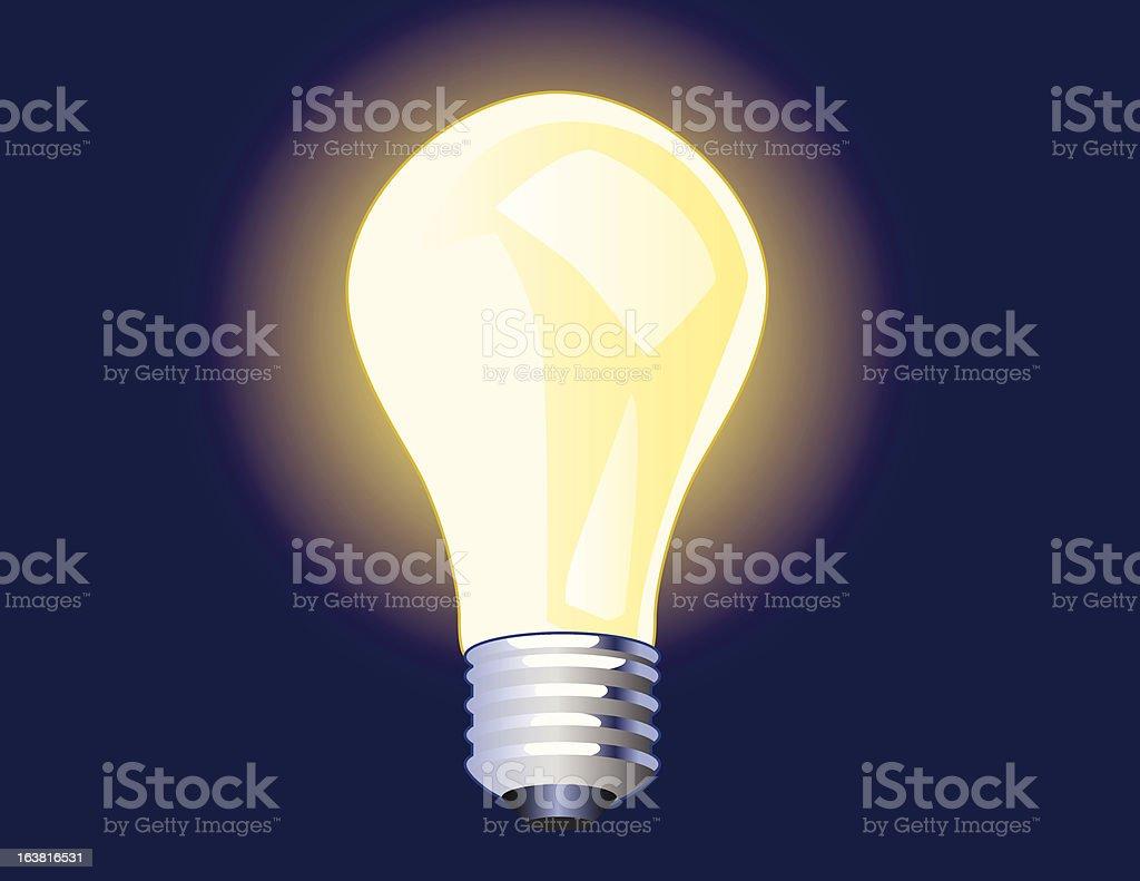 Shining light bulb royalty-free stock vector art
