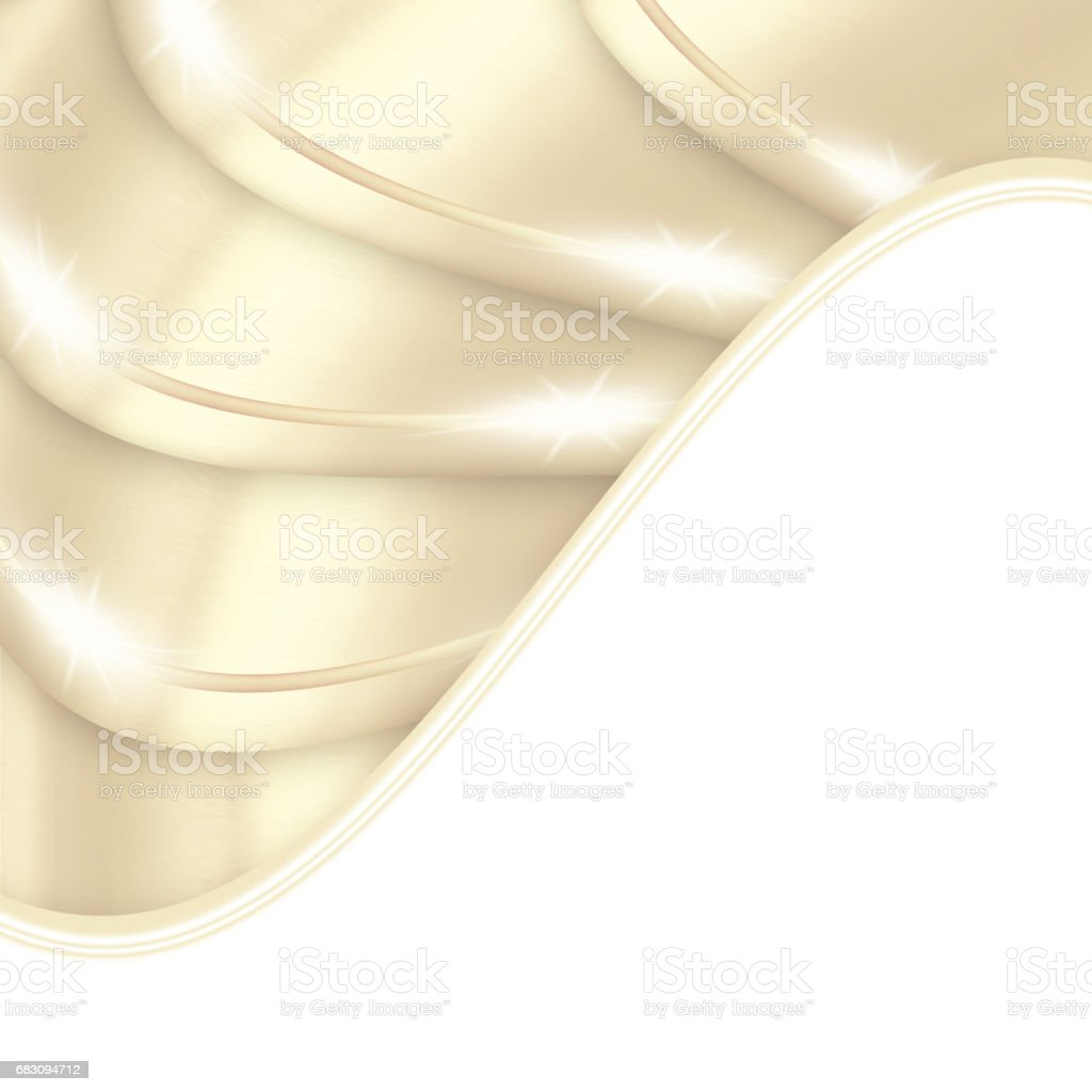 Shiny beige background with curves vector art illustration
