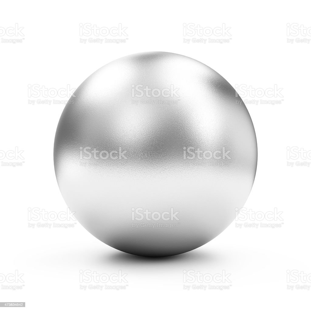 Shiny Big Golden Sphere or Button isolated on white background vector art illustration