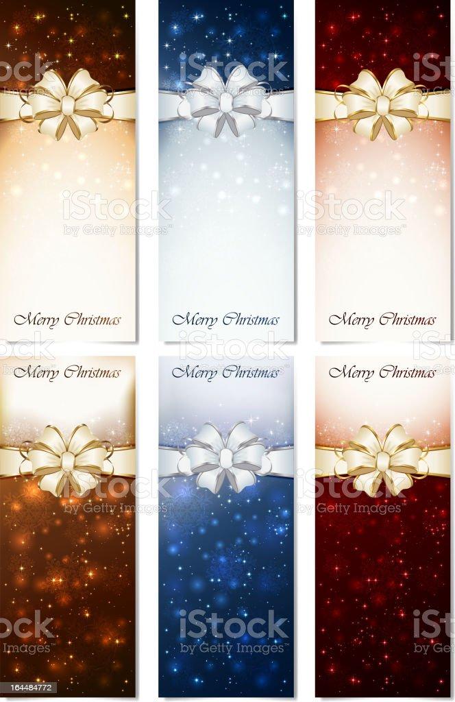Shiny Christmas cards royalty-free stock vector art