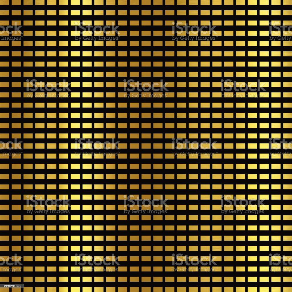 Shiny golden and black background vector art illustration