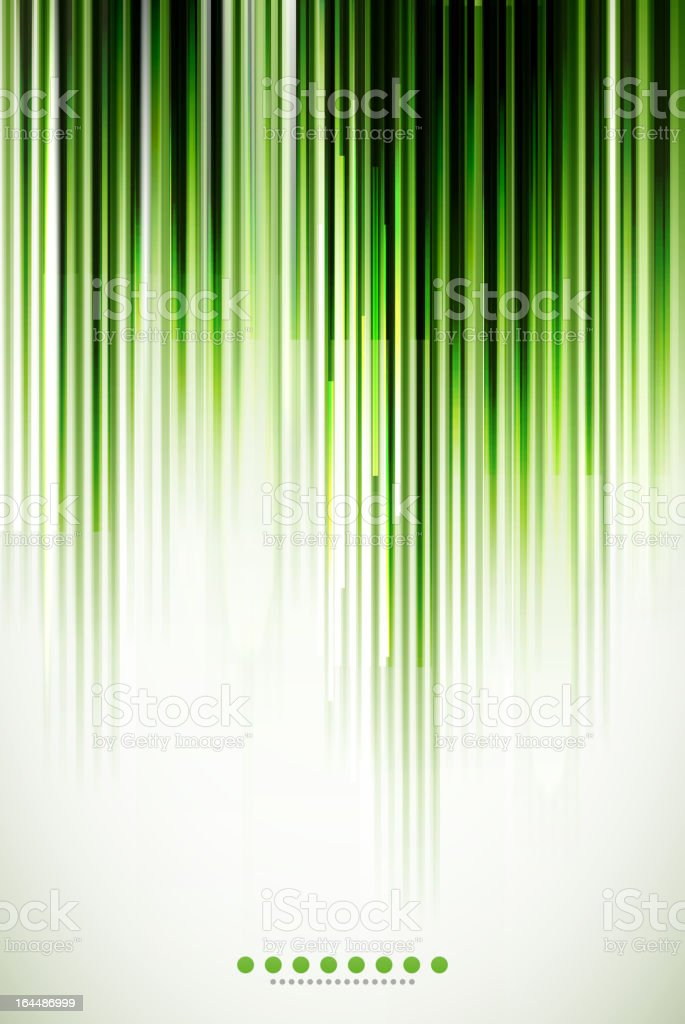 Shiny green striped background vector art illustration
