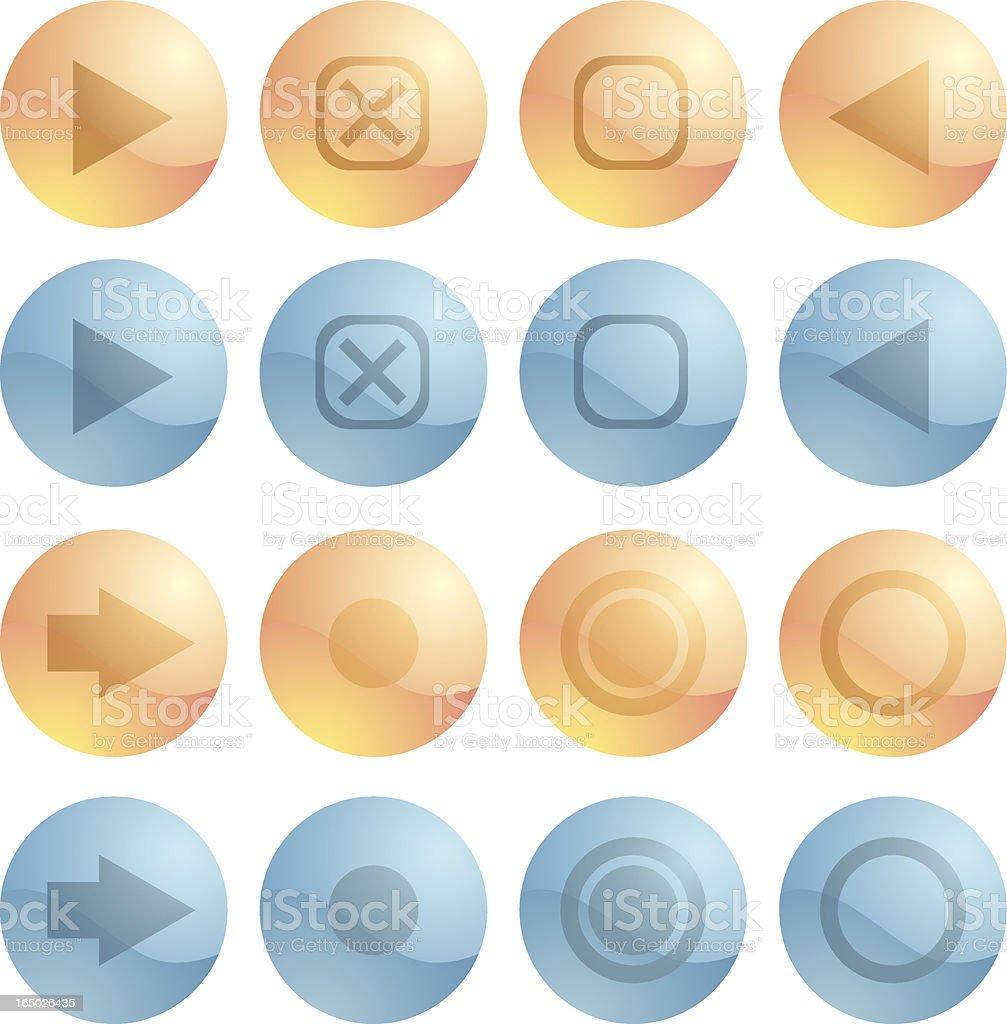 Shiny Icons vector art illustration