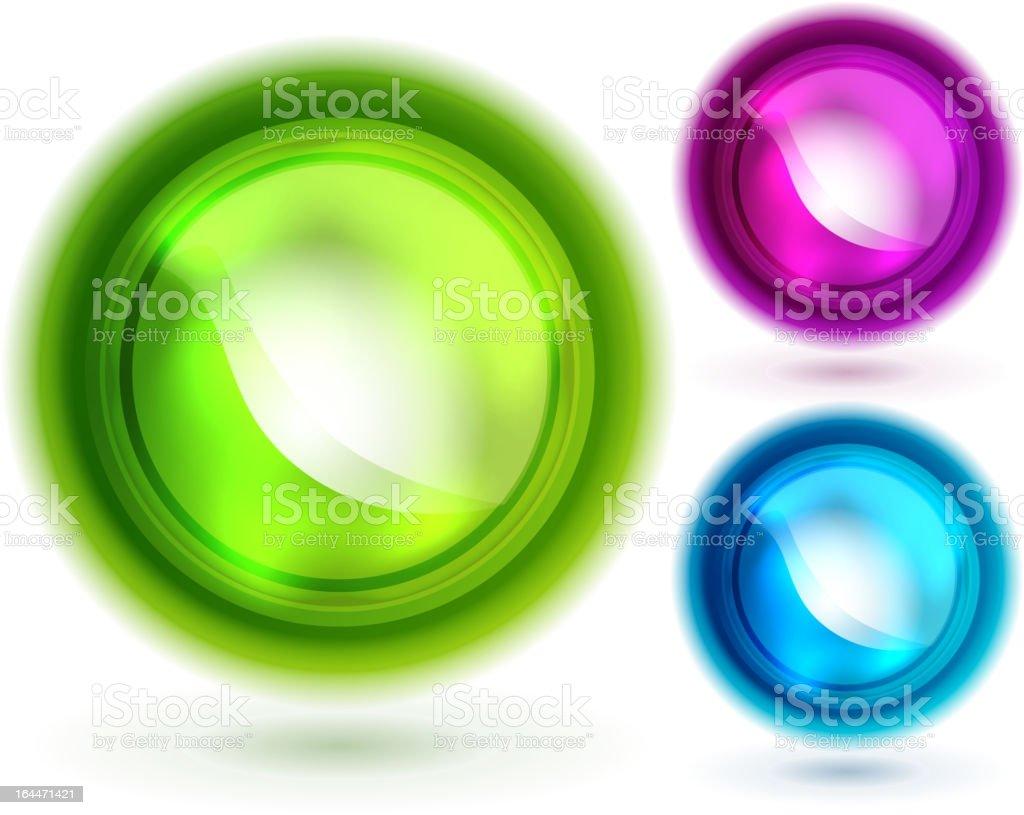 Shiny vector circles royalty-free stock vector art